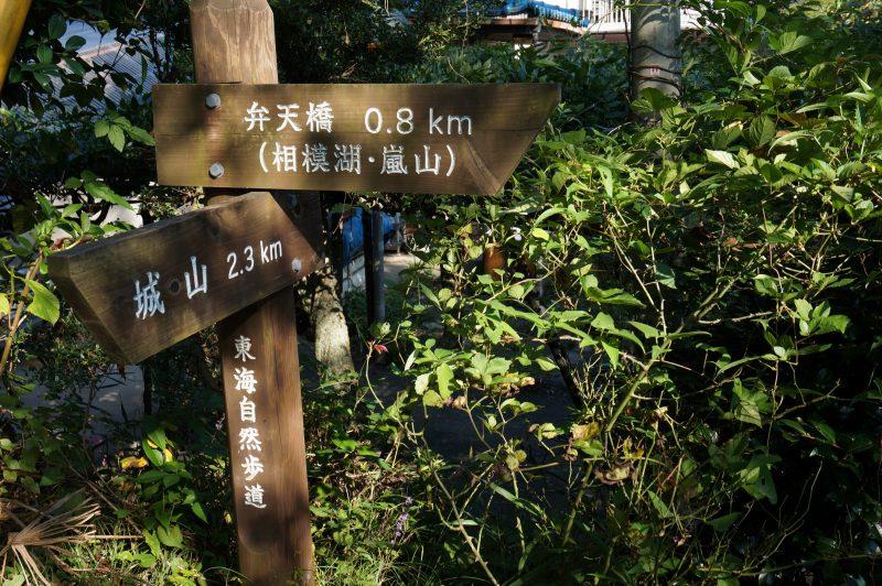 富士見茶屋前の標識