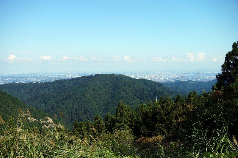 小仏城山山頂からの高尾山