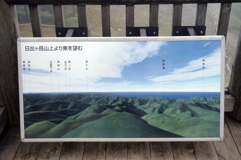 日出ヶ岳展望台から東の方向に見える風景