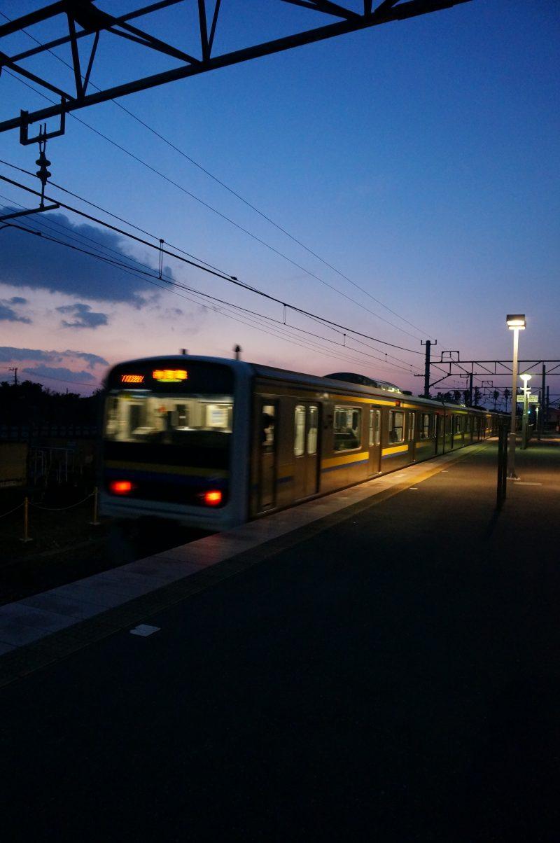 浜金谷駅ホーム