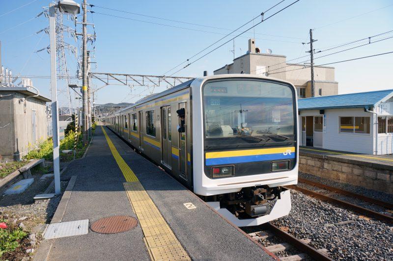 和田浦駅 到着
